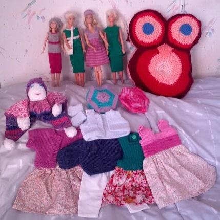 Vêtements barbie, poupée, chouette